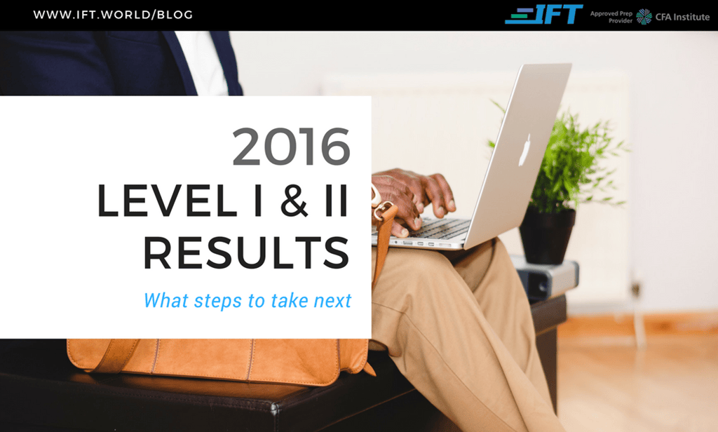 Your 2016 Level I & II Exam Results