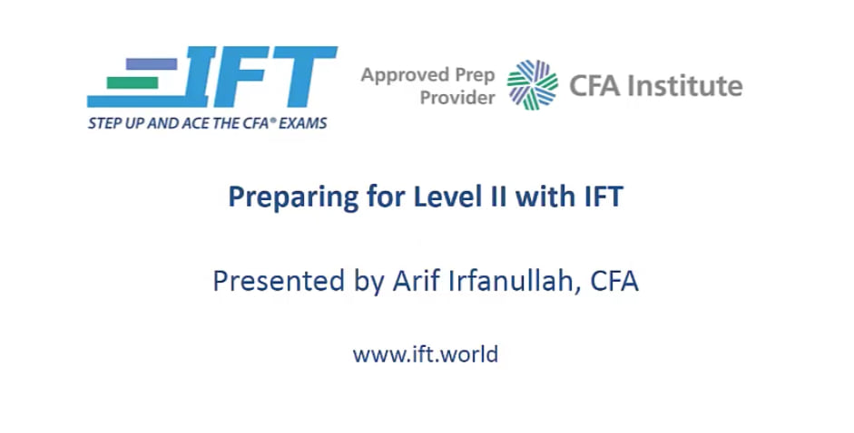 Arif irfanullah cfa level 1 videos 2017
