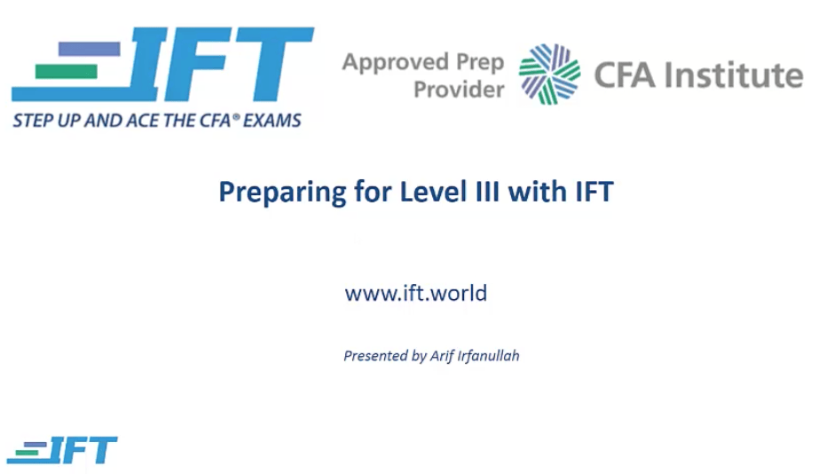 Pass Level III with IFT