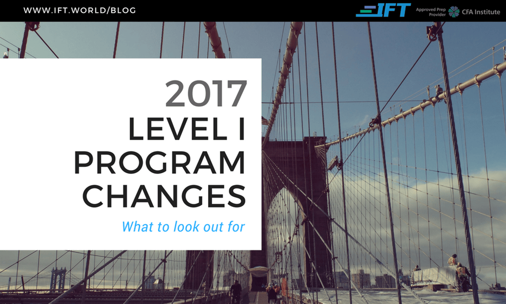 2017 Level I Program Changes
