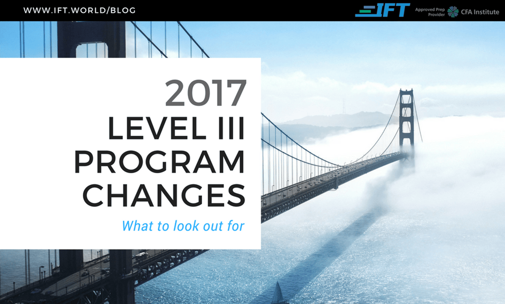 2017 Level III Program Changes