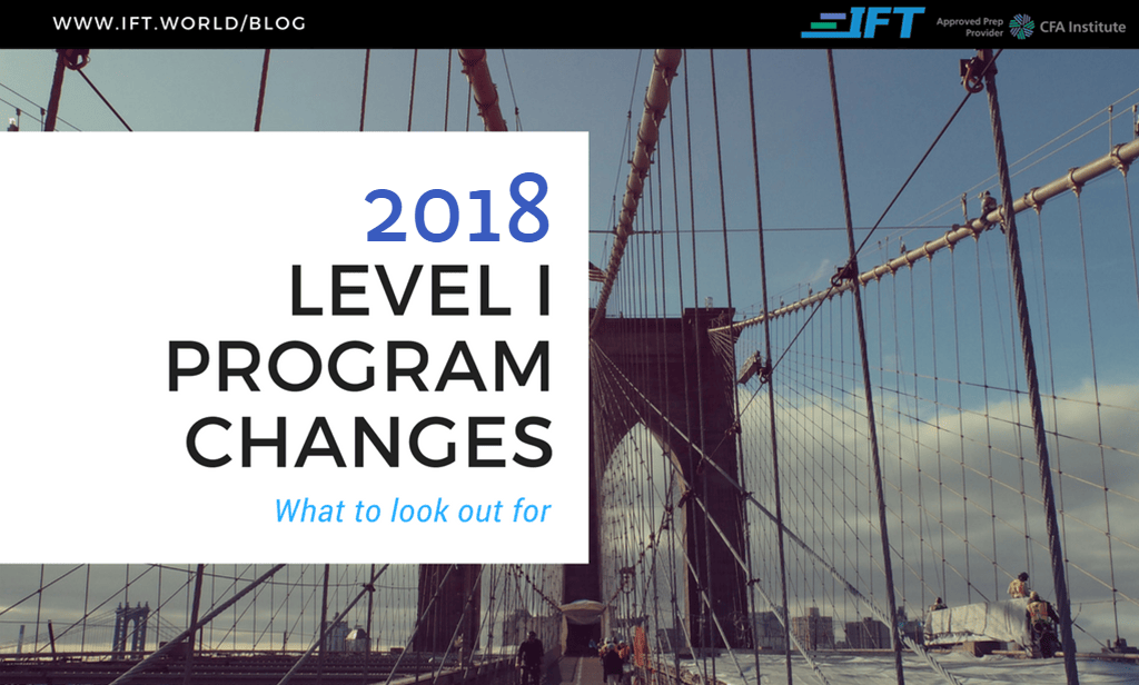 2018 Level I Program Changes