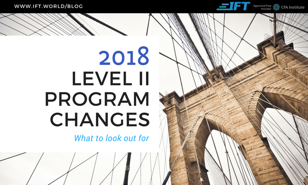 2018 Level II Program Changes