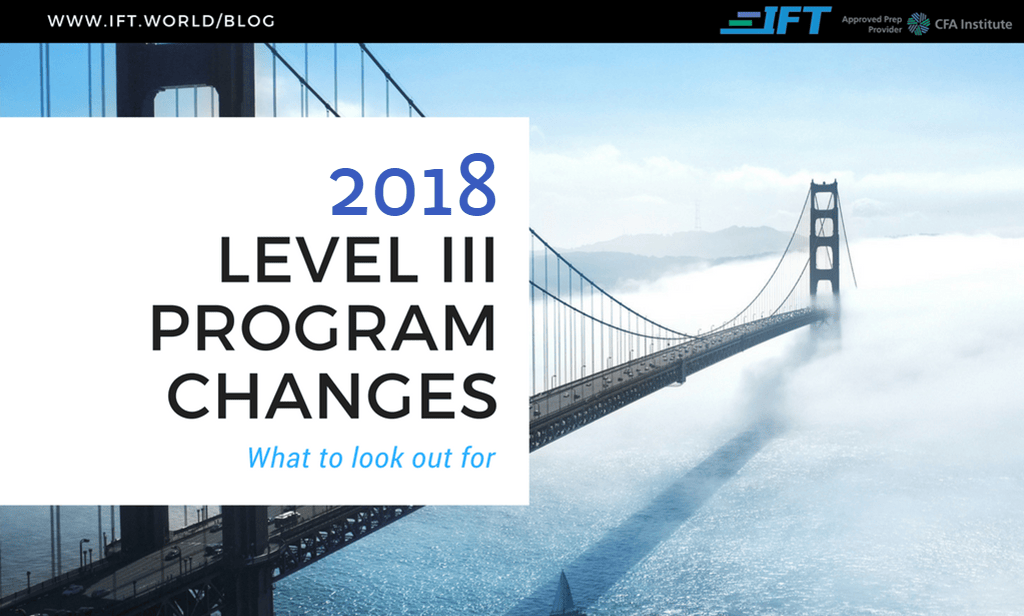 2018 Level III Program Changes
