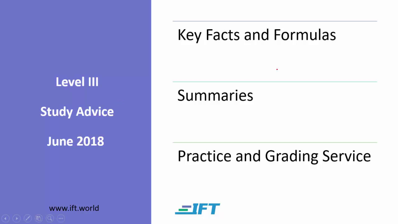 Level III Study Advice – June 2018