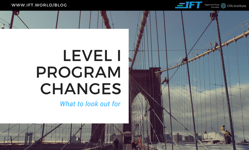 2019 Level I Program Changes