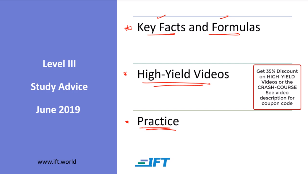 Level III Study Advice – June 2019