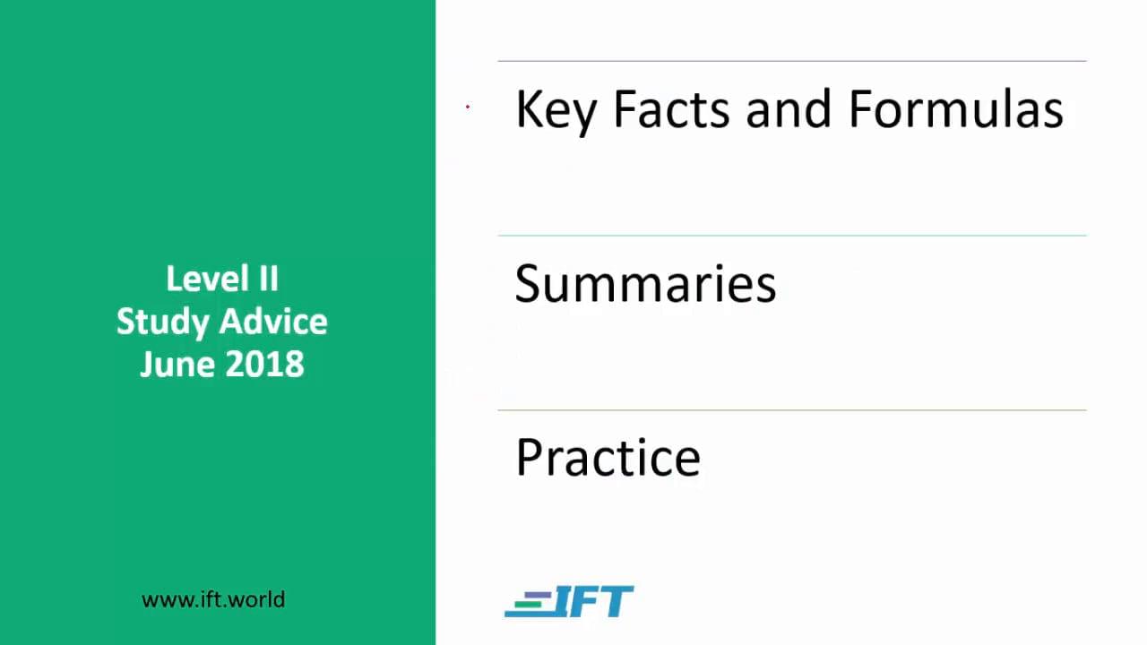 Level II Study Advice – June 2018