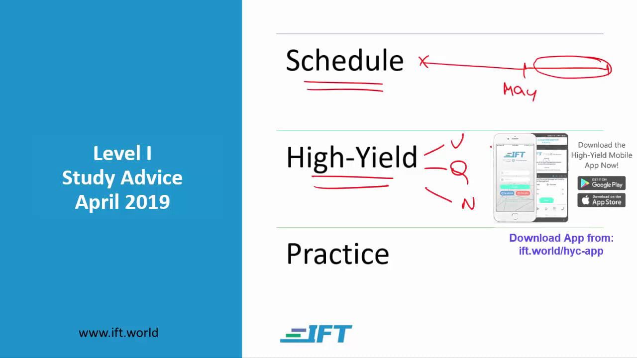Level I Study Advice – April 2019