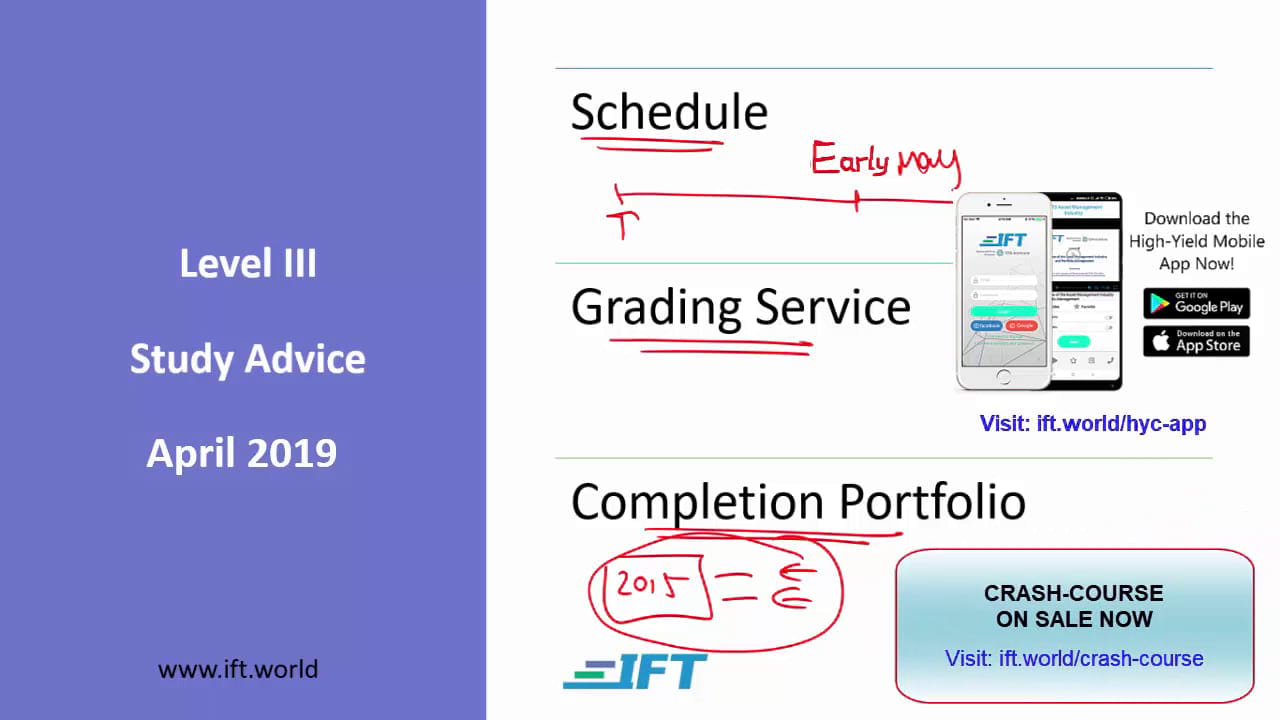 Level III Study Advice – April 2019