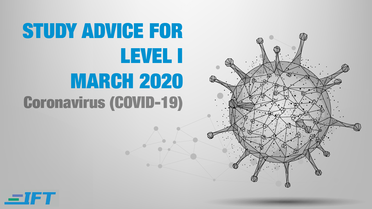 Level I Advice – March 2020 – Corona Update