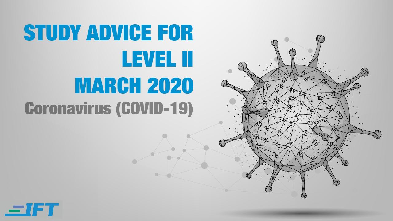 Level II Advice – March 2020 – Corona Update
