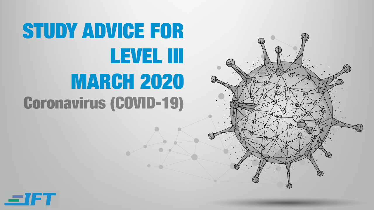 Level III Advice – March 2020 – Corona Update
