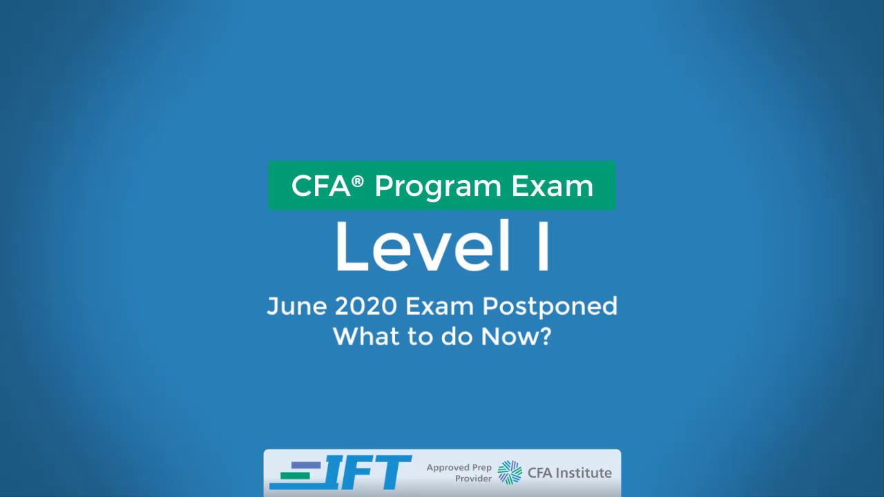 Level I CFA Advice: Covid-19 Late March 2020