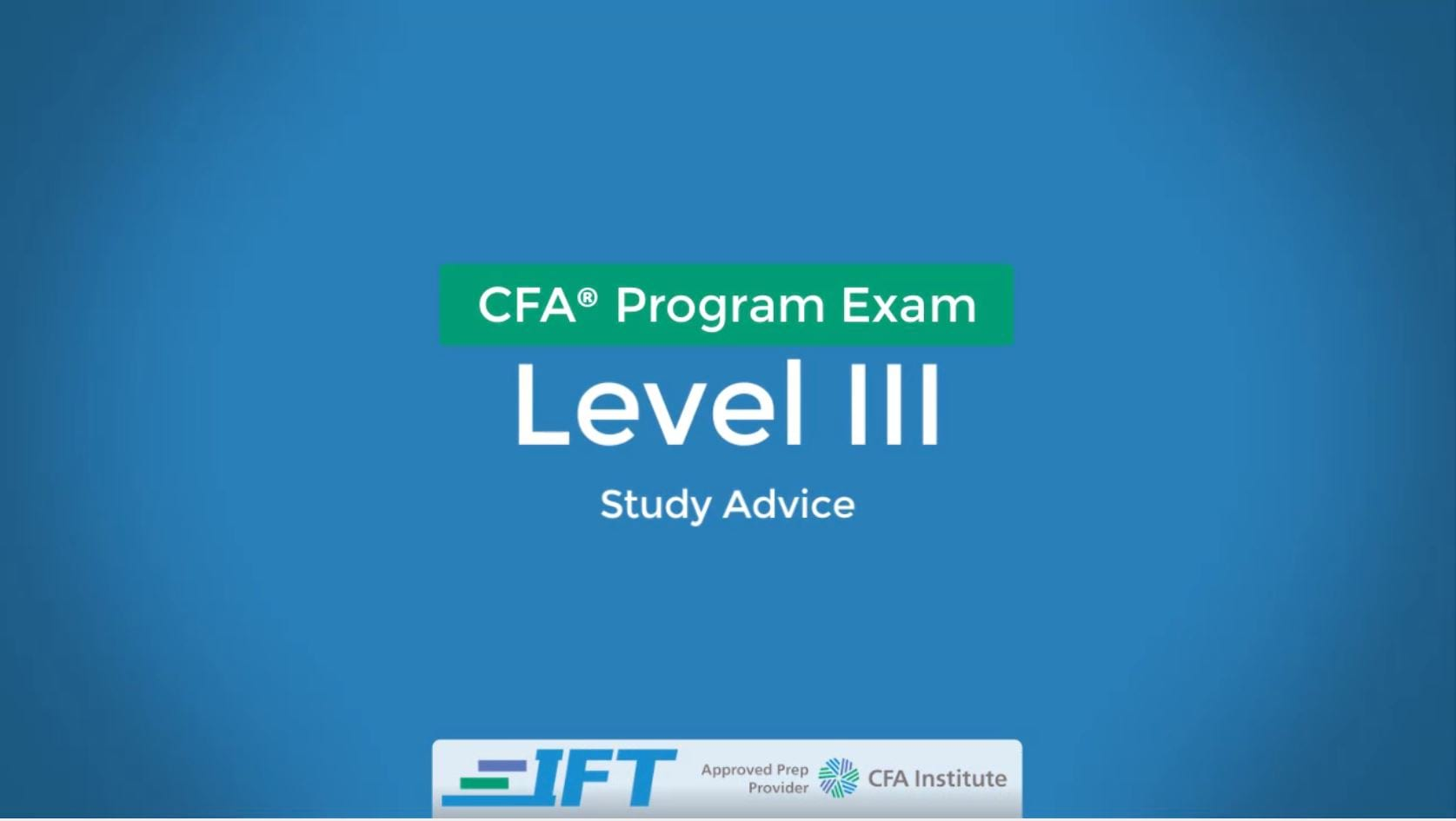 October 2020 Level III CFA Exam Advice