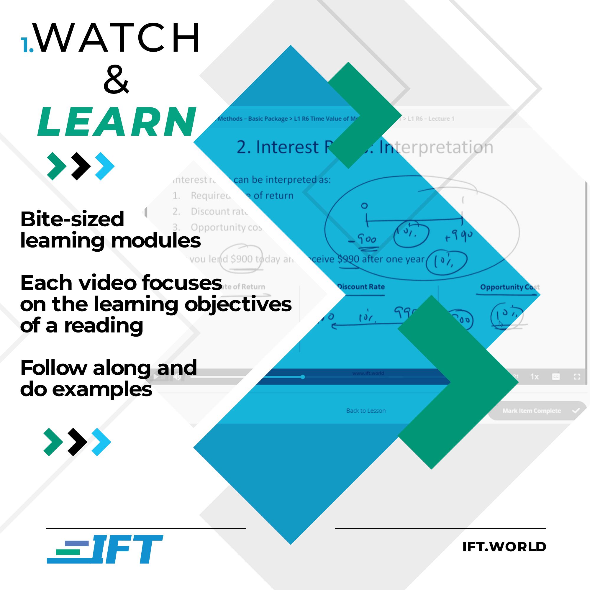 1.Watch & Learn